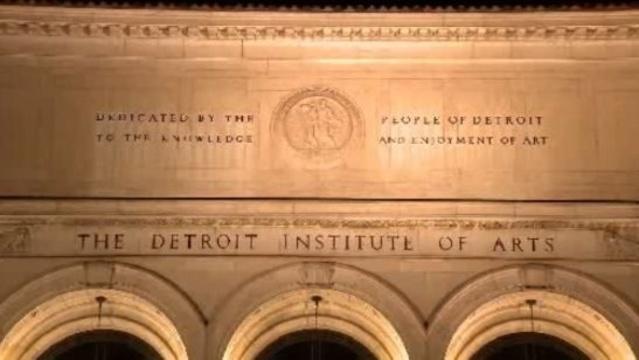 Detroit Institute of Arts DIA at night 2