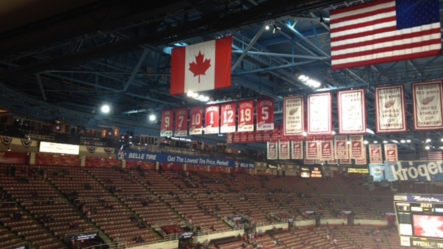 Joe Louis Arena banners