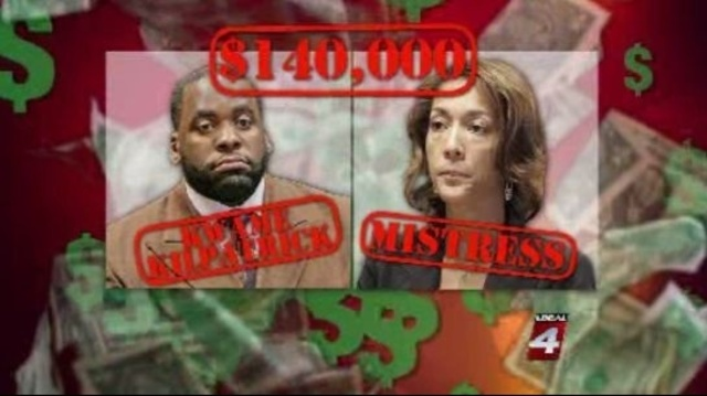 Kwame Kilpatrick and Christine Beatty graphic
