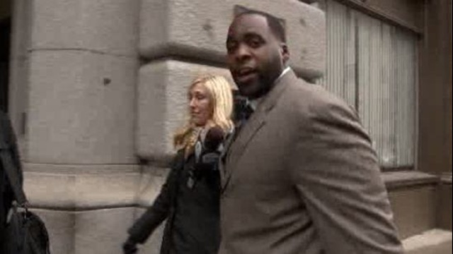 Kwame Kilpatrick outside court Detroit