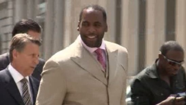 Kwame Kilpatrick outside jury selection process