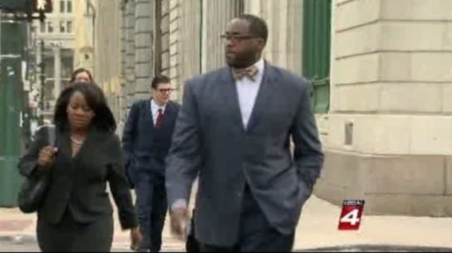 Kwame Kilpatrick outside opening statements