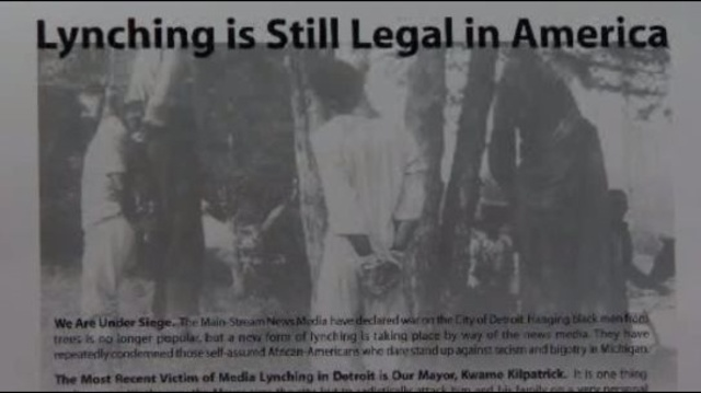 Lynching is still legal in America ad