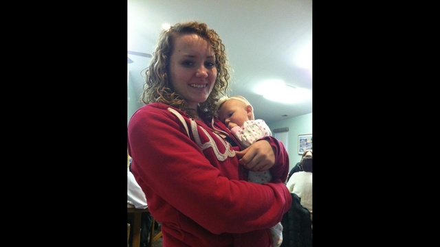 Brenna with baby