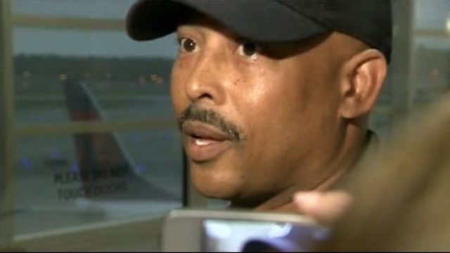 Detroit Police Chief Ralph Godbee at airport