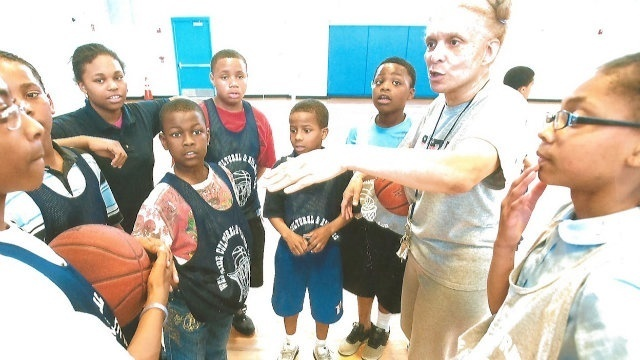 Erica Wright coaching Detroit kids