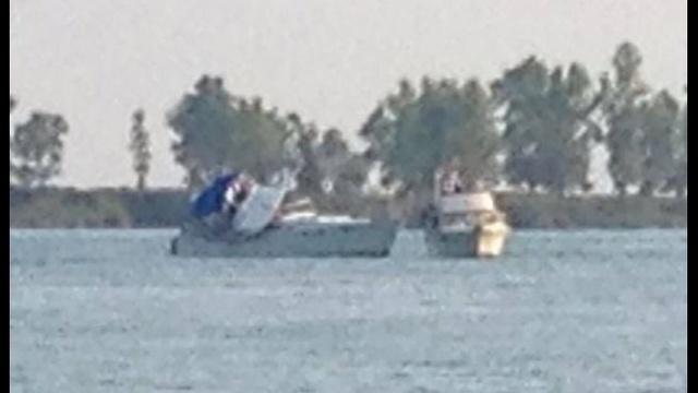 Harsens Island boat crash scene2