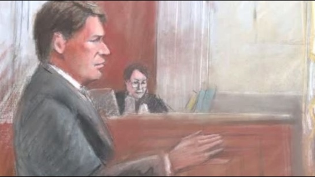 Jim Thomas sketch Kwame Kilpatrick federal trial Detroit