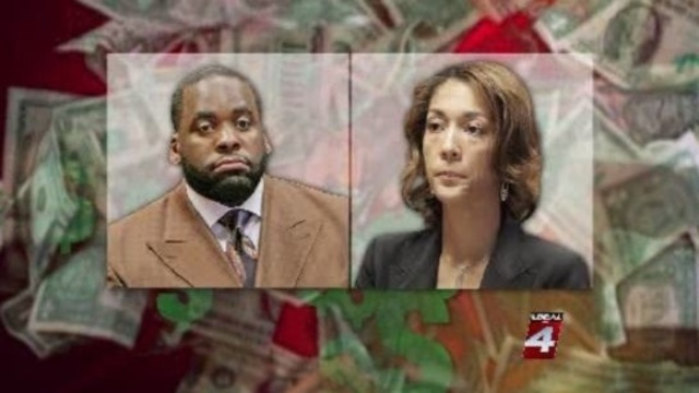 Kwame Kilpatrick and Christine Beatty