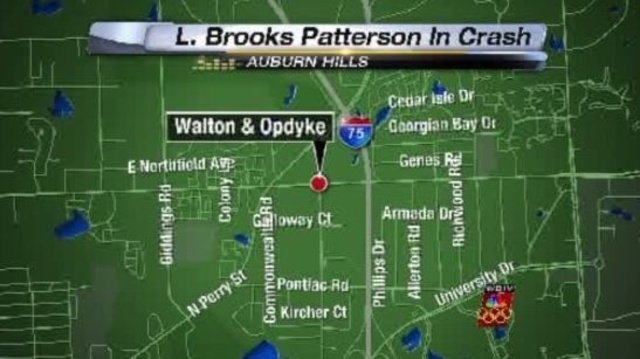 L Brooks Patterson crash Auburn Hills map_16063564