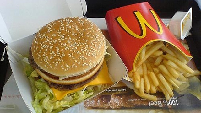 McDonalds Big Mac and french fries