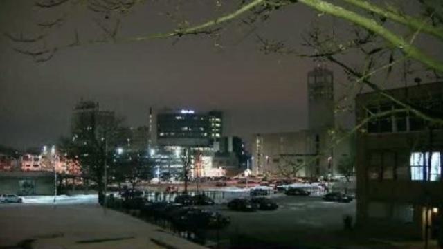 Pontiac Michigan at night