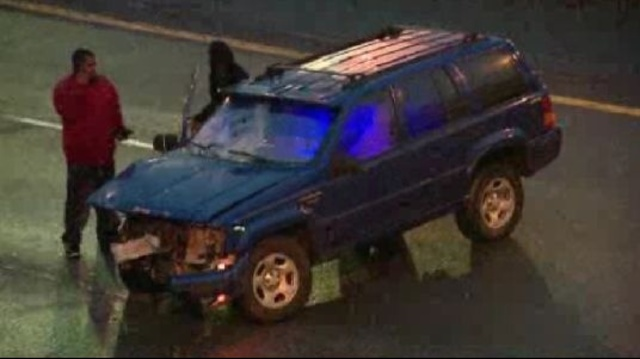 96 at Livernois crash SUV