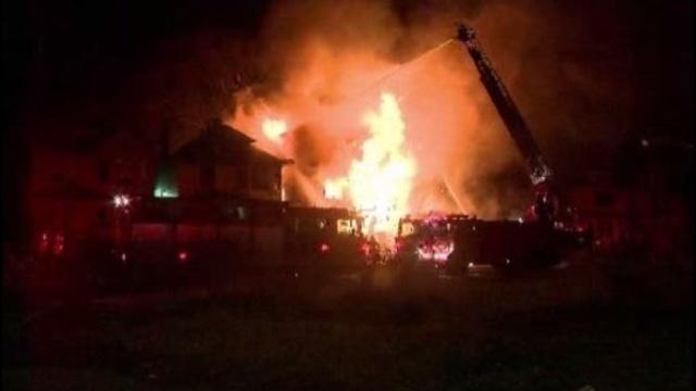 Allendale fire scene