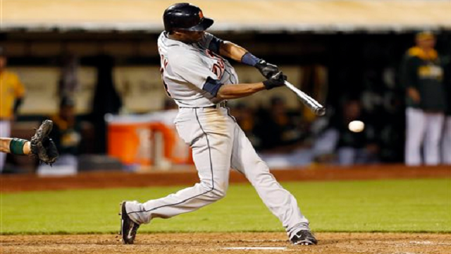 Austin Jackson swing AP Photo