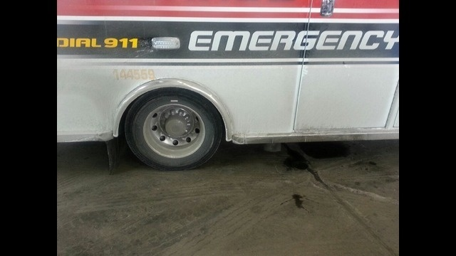 Broken down Detroit EMS truck