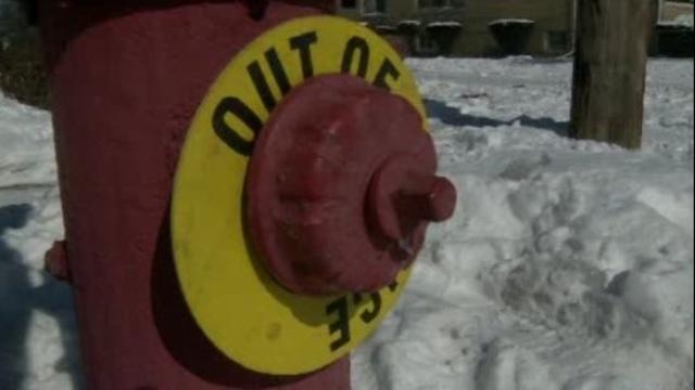 Broken fire hydrant Detroit 1