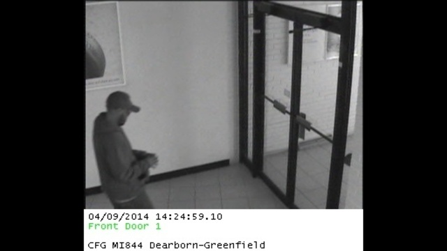 Charter One Bank Suspect at front door