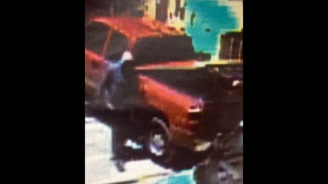 Close up of tool thief in red truck