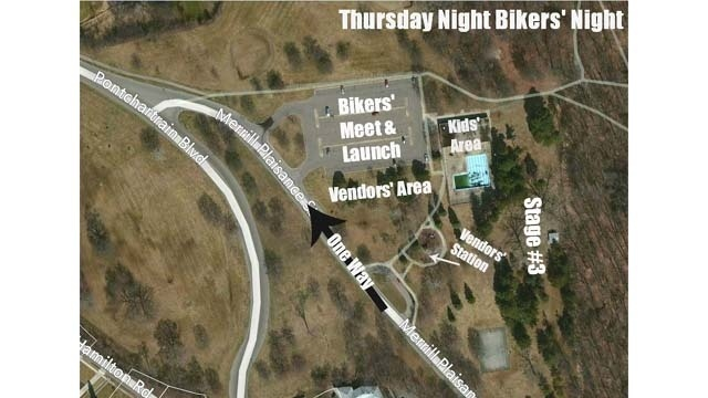 Cruisin the D Thursday Bikers night map