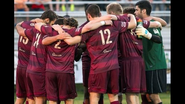Detroit City FC huddle May 23 2014 vs Lansing United