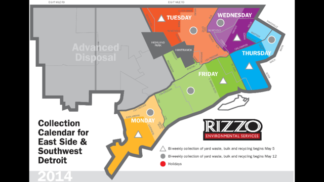 Detroit Trash map