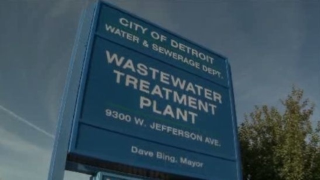 Detroit Wastewater Treatment Plant sign