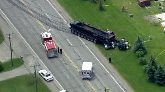Frenchtown Township truck car crash 1