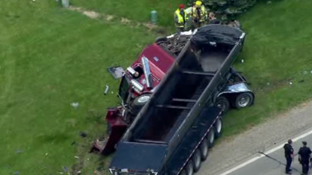 Frenchtown Township truck car crash 2