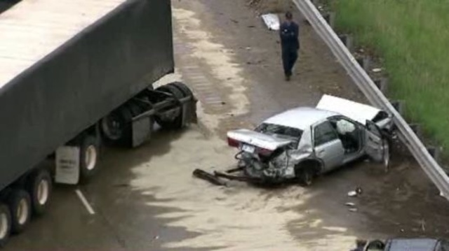 I-275 at 8 Mile road crash 2