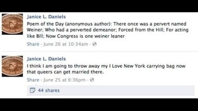 Janice Daniels Facebook posts