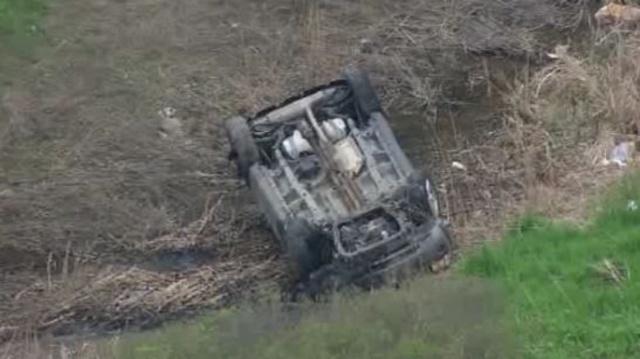 M-14 rollover crash 1