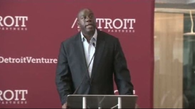 Magic Johnson in Detroit