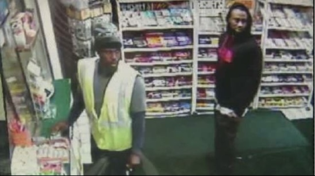 Customers inside gas station watch stabbing unfold