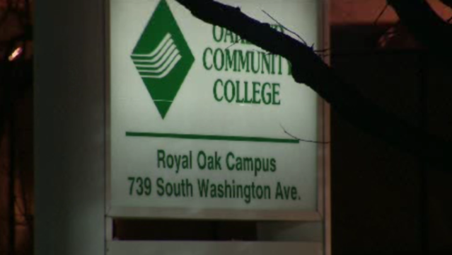 Oakland Community College OCC sign Royal Oak