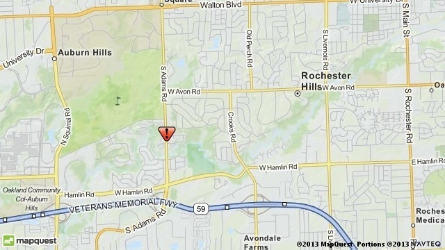 Rochester Hills crash map