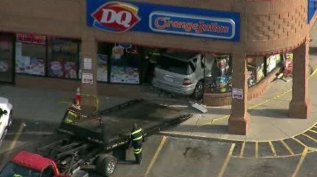 SUV into Dairy Queen Sterling Heights 3