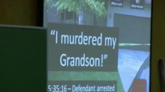 Sandra Layne tells police officers