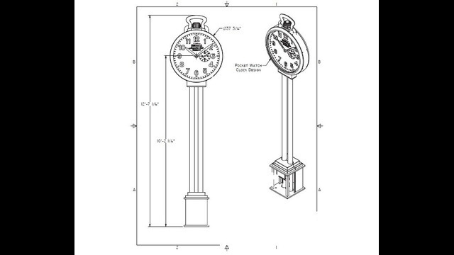 Shinola City Clock drawing 2
