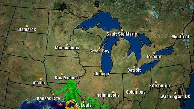 Snow storm radar Monday PM