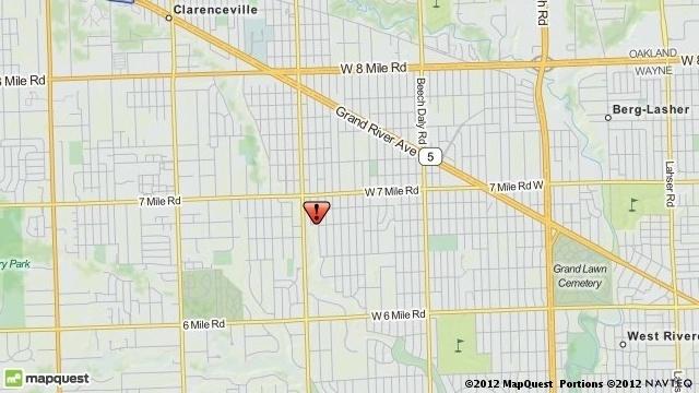 Suspicious man Redford Township map