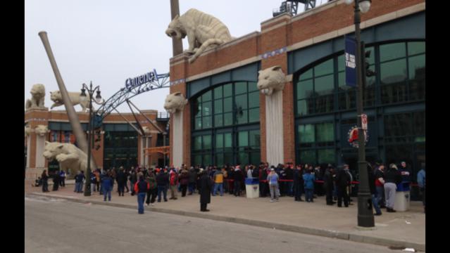 Tigers tickets line 2