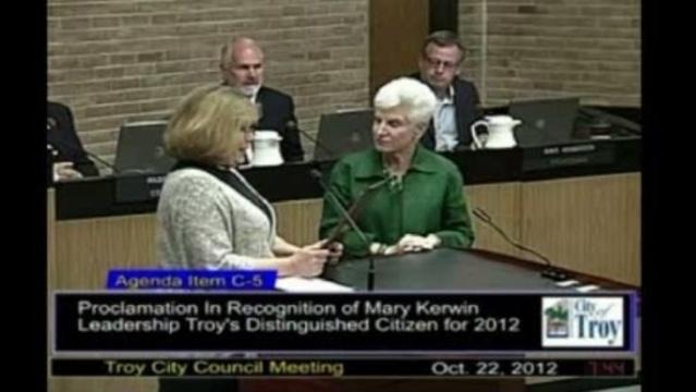 Troy mayor Janice Daniels and Mary Kerwin