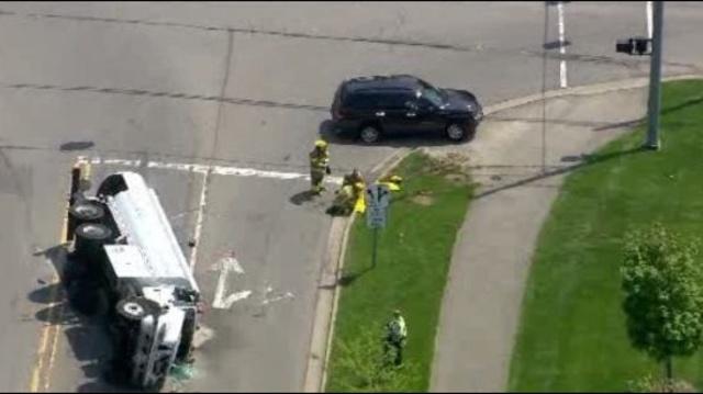Truck overturned West park Drive Novi 4