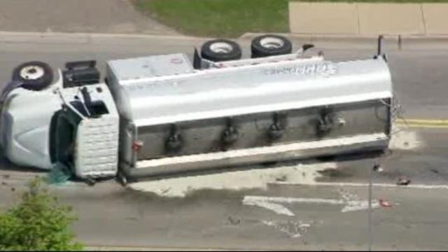 Truck overturned West park Drive Novi 5