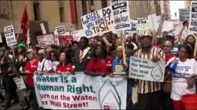 Water is human right sign