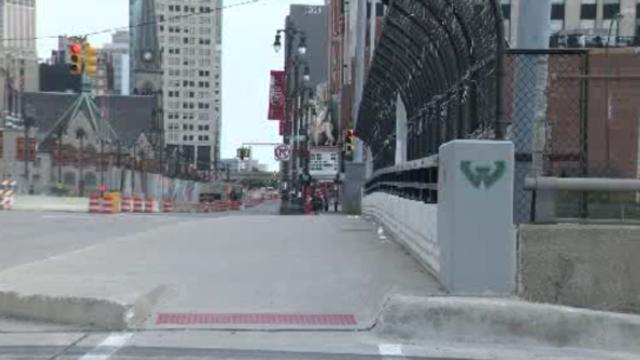 Woodward and I75 bridge Detroit
