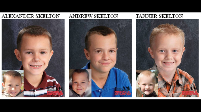 Age-progressed pictures of missing Skelton brothers