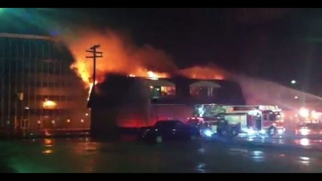 dowtown Port Huron fire 1