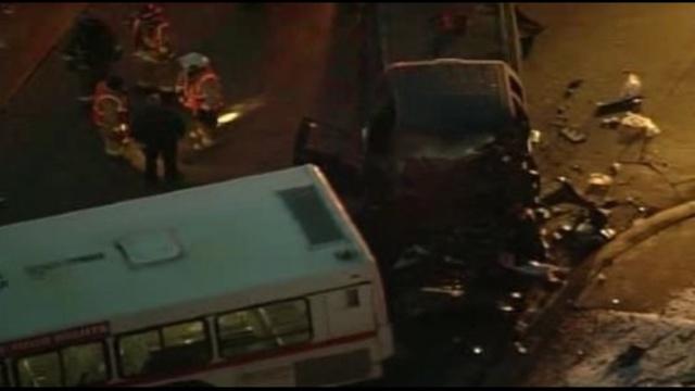 Bus crashes in farmington hills
